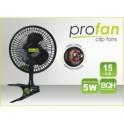 Klipsnový ventilátor PRO pr.15cm,5W