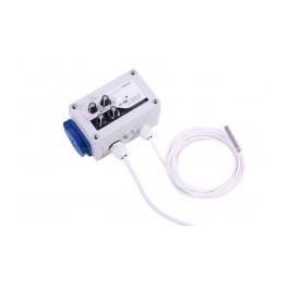 GSE Digitalní regulátor teploty, min&max rychlosti ventilatoru a hystereze 2x1A